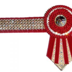 """EE05-14"""" Claret SWAROVSKI Gold Bling Browband"""