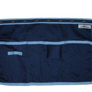 Plaiting Apron - Navy with Light Blue trim/Horse Motif